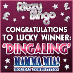 Dingaling wins 5* Greek Holiday at Ritzy Bingo