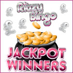 One lucky player with nine enormous wins at Ritzy Bingo